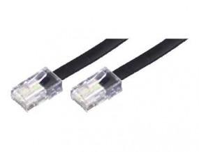 Anschlusskabel, beidseitig RJ45(8p8c)-Stecker, Kabel: 8-adrig, flach und schwarz, 1:1, 6,00 m