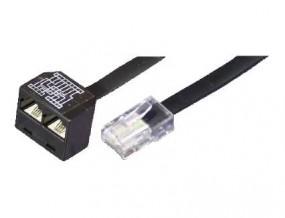 Leitungsdoppler für Telefon/Telefon, RJ45(8p8c)-Stecker - 2 x RJ45(8p4c)-Buchsen, Kabel: 8-adrig,