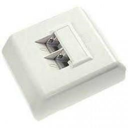 ISDN-Anschlußdose, 45°-Ausgang, schraubbar, 2 x 8 (8), Ap, VRC