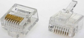 Modularstecker RJ45(8p8c) kurze Version