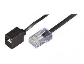 Adapter, RJ45(8p4c)-Stecker-RJ45(8p4c)-Buchse, terminiert (100 Ohm),