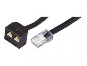 Y-Adapter, RJ45(8p4c)-Stecker - 2xRJ45(8p2c)-Buchse, (3/6 auf 4/5 und 4/5 auf 4/5), 0,20 m