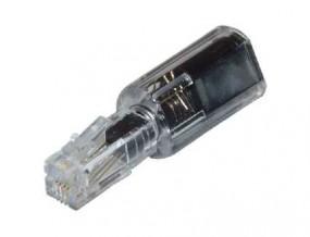 Twist-Stop für Telefonhörer, verhindert das Verdrehen des Hörerkabels, transparent/schwarz.