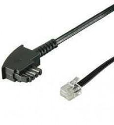 TAE-Anschlusskabel, TAE-F-Stecker - RJ11(6p4c)-Stecker, Verschaltung: a/b/W/e-5/2/4/3,