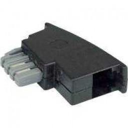 Adapter, TAE-N-Stecker-RJ11-Buchse, Slimline