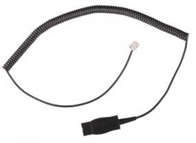 Plantronics Anschlusskabel, QD-Stecker - RJ10(4p4c)-Stecker, gewendelt