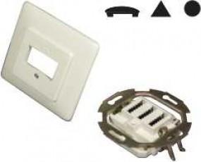 TSS-Anschlußdose für je 1 Telefon-Fax-AB, Unterputz