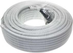 Koaxialkabel Plus, Innenleiter: 1,1 mm, Kabeldurchmesser: 6,8 mm, doppeltgeschirmt, 75 Ohm,