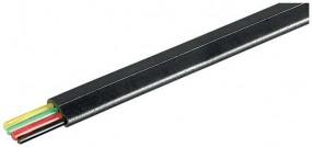 Telefonkabel, Kabel: 4-adrig, flach und schwarz, 100 m Bund