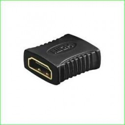 HDMI Doppelbuchse, HDMI-Buchse - HDMI-Buchse, vergoldete Kontakte
