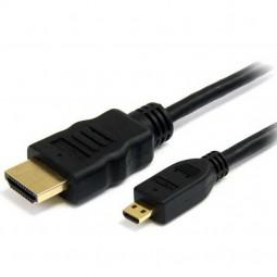 HDMI Anschlusskabel HDMI-A-Stecker - HDMI-C-Stecker, ATC1.3 CAT.2, schwarz, 1,50 m