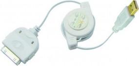 iPod/iPhone/iPad Ladekabel, USB-A-Stecker - 30-pol-Stecker, 0,80 m, weiss