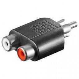 Adapter, Cinchstecker - 2 x Cinchbuchsen