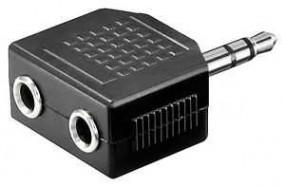 Adapter, Klinkenstecker 3,5 mm - 2 x Klinkenbuchse 3,5 mm