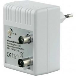 Steckdosenverstärker für UHF/VHF/UKW, Bereich: 47 - 862 MHz, Verstärkung: 20 dB
