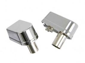 Koax Set: 1 x Koaxwinkelstecker, Metall+ 1 x Koaxwinkelbuchse, Metall