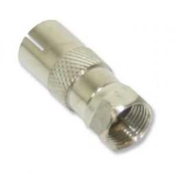 Adapter, F-Stecker - Koaxbuchse