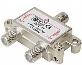SAT Verteiler 2-fach mit F-Buchsen, 5-2400 MHz, digital