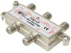 SAT Verteiler 4-fach mit F-Buchsen, 5-2400 MHz, digital