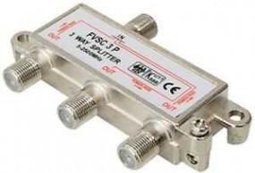 SAT Verteiler 3-fach mit F-Buchsen, 5-2400 MHz, digital