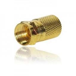 F-Stecker für Koaxkabel bis 7,5 mm ø, vergoldet, Inhalt: 2 Stück