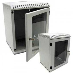 """Elektronikwandgehäuse für 10"""" Geräte 4HE, RAL7035, 300 mm tief,"""