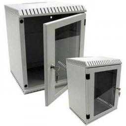 """Elektronikwandgehäuse für 10"""" Geräte 6HE, RAL7035, 500 mm tief,"""