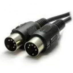 Audio Anschlusskabel, beidseitig 5-pol DIN-Stecker, schwarz, 1,50 m